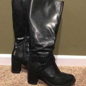 Aldo Tall Black leather boots
